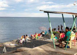 En el Lago Pellegrini se vive el verano a pleno