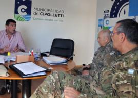 El ejército estará a disposición para colaborar en logística