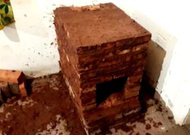 Construyen estufa rusa en vivienda de la Isla Jordán